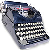 the typewriter | la machine à écrire